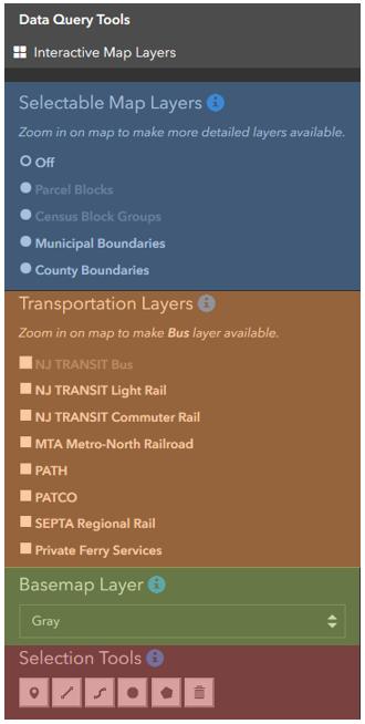 New Jersey Land Use + Transit Data Application